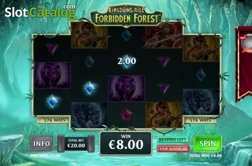 Win Screen 2. Kingdoms Rise: Forbidden Forest (Video Slot from Playtech Origins)