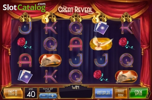 Reel Screen. The Great Reveal (Video Slot from Playtech)