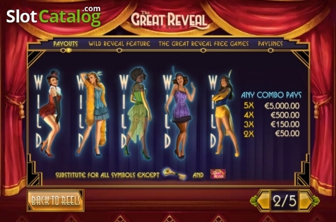 Wild Feature. The Great Reveal (Video Slot from Playtech)