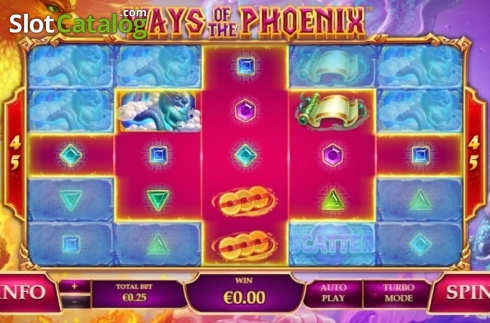 Reel Screen. Ways of the Phoenix (Video Slot from Playtech)