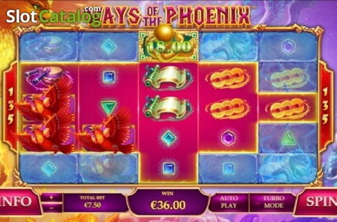 Win Screen. Ways of the Phoenix (Video Slot from Playtech)