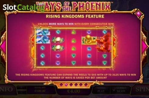 Features. Ways of the Phoenix (Video Slot from Playtech)