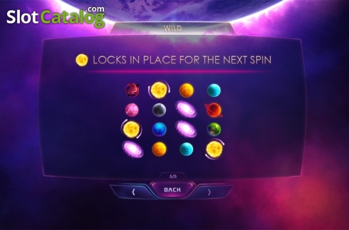 Paytable 5. Galactic Streak (Video Slots from Playtech)