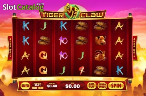 Reel Screen. Tiger Claw (Playtech) (Video Slot from Playtech)