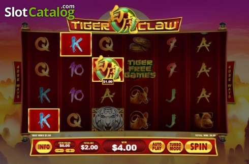 Win Screen. Tiger Claw (Playtech) (Video Slot from Playtech)