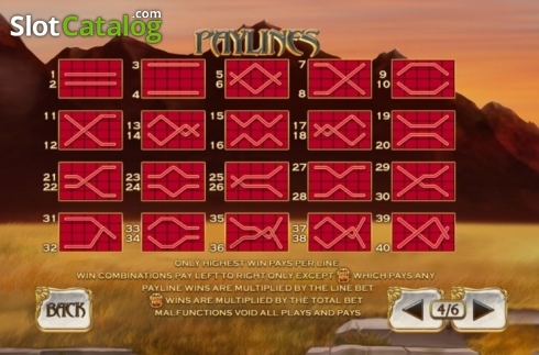 Paylines. White King 2 (Video Slot from Playtech)