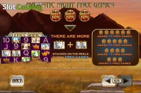Features. White King 2 (Video Slot from Playtech)