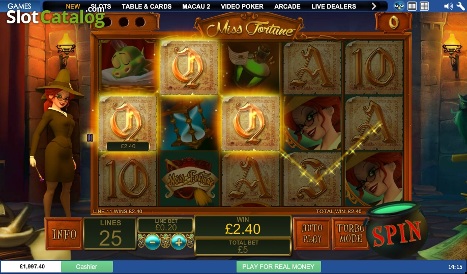 Play the Miss Fortune Slots at Casino.com UK