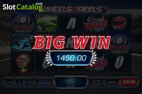 Big Win. Wheels N' Reels (Video Slots from Playtech)