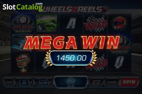Mega Win. Wheels N' Reels (Video Slots from Playtech)