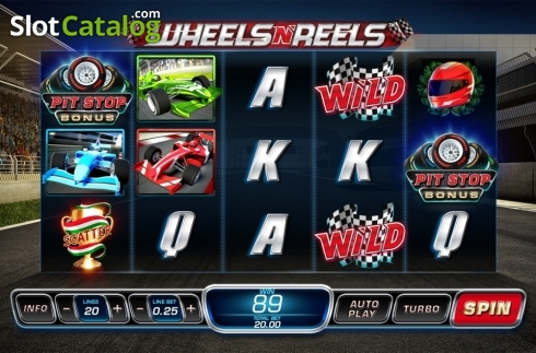 Reel Screen 1. Wheels N' Reels (Video Slots from Playtech)