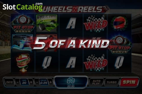 5 of a kind. Wheels N' Reels (Video Slots from Playtech)