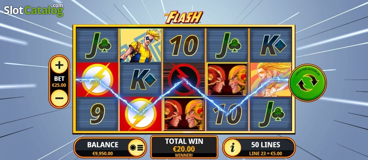Play The New The Flash Slot From Playtech