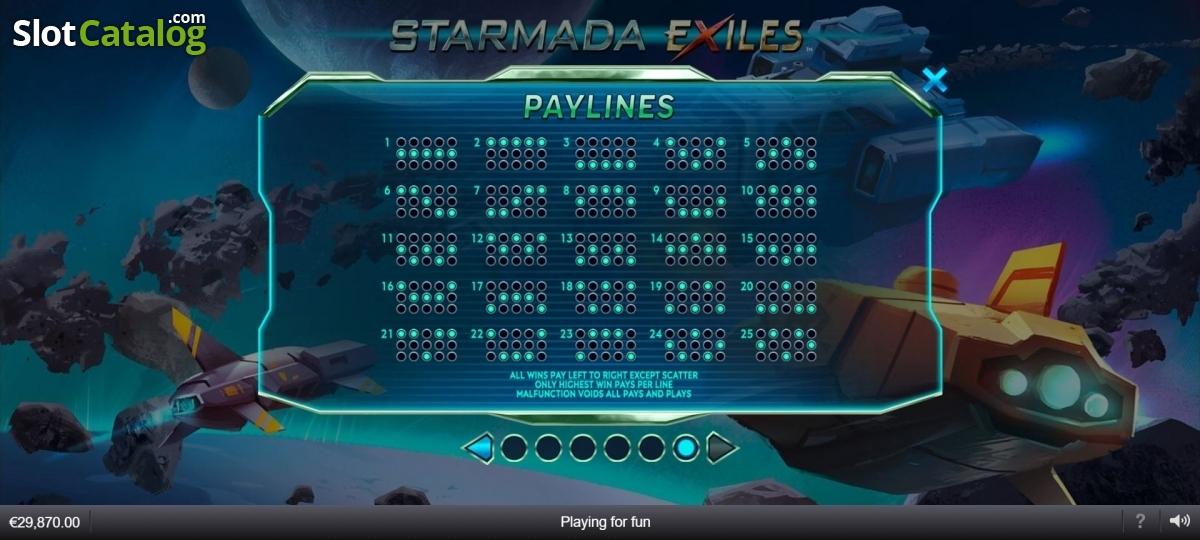 Starmada Exiles Slot Review, Bonus Codes & where to play from United Kingdom