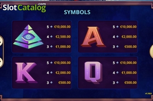 Paytable 2. Lucky U (Video Slot from Playtech)