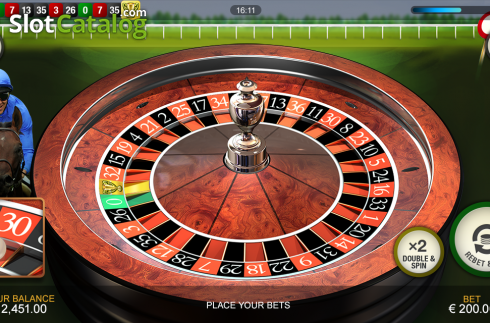 Screen3. Frankie Dettori's Jackpot Roulette (Roulete from Playtech)