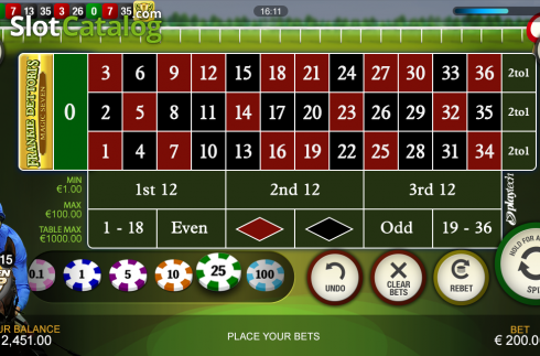 Screen4. Frankie Dettori's Jackpot Roulette (Roulete from Playtech)