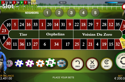 Screen5. Frankie Dettori's Jackpot Roulette (Roulete from Playtech)