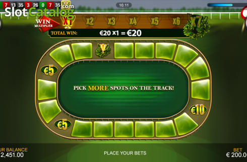 Screen6. Frankie Dettori's Jackpot Roulette (Roulete from Playtech)