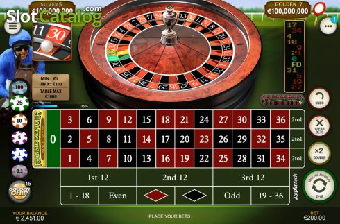 iPad. Frankie Dettori's Jackpot Roulette (Roulete from Playtech)