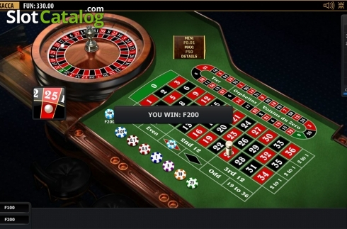 Win screen. Premium European Roulette (Playtech) (Roulete from Playtech)
