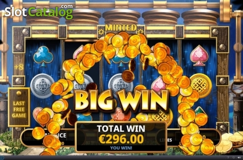 Total Win. Minted Money (Video Slot from Playtech)