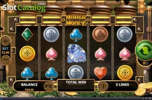 Reel Screen. Minted Money (Video Slot from Playtech)