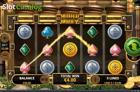 Win Screen 1. Minted Money (Video Slot from Playtech)