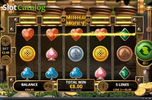 Win Screen 2. Minted Money (Video Slot from Playtech)