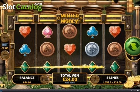 Win Screen 3. Minted Money (Video Slot from Playtech)
