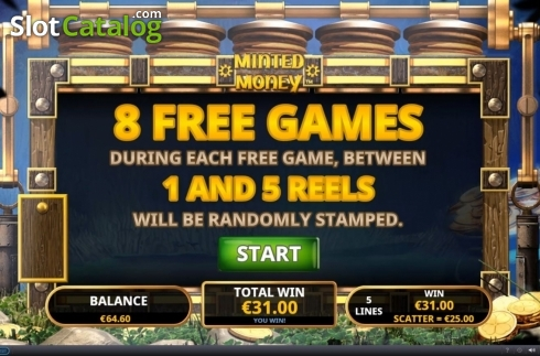Free Spins 2. Minted Money (Video Slot from Playtech)