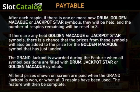 Game Rules 4. Golden Macaque (Video Slots from Rarestone Gaming)