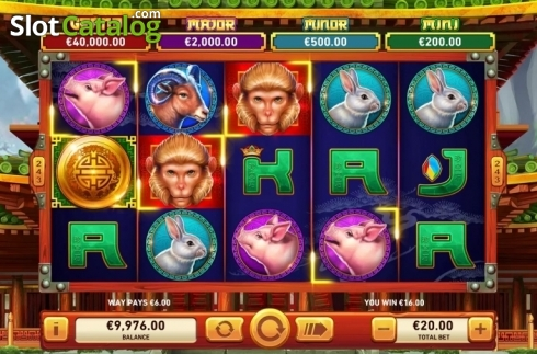 Win Screen 1. Golden Macaque (Video Slots from Rarestone Gaming)