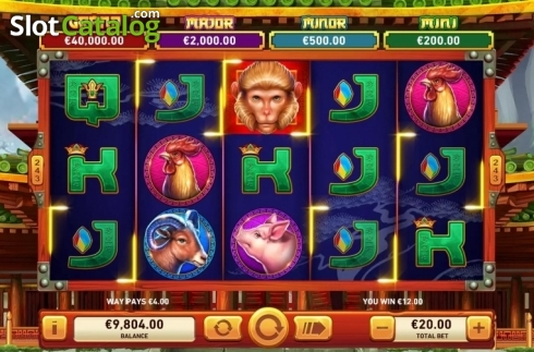 Win Screen 2. Golden Macaque (Video Slots from Rarestone Gaming)