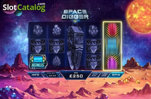 Reel Screen. Space Digger (Video Slots from Playtech)