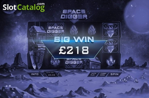 Big Win. Space Digger (Video Slots from Playtech)