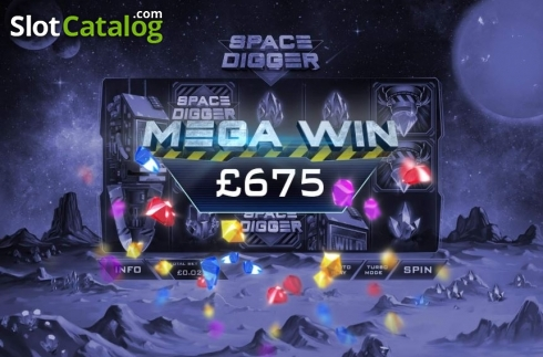 Mega Win. Space Digger (Video Slots from Playtech)