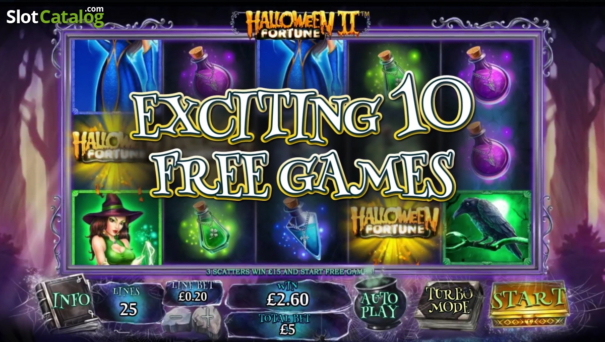 halloween fortune ii video slot from playtech