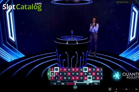 Game Screen 1. Quantum Roulette (Live Casino from Playtech)