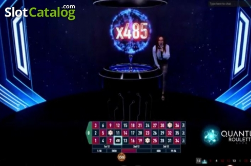 Game Screen 2. Quantum Roulette (Live Casino from Playtech)