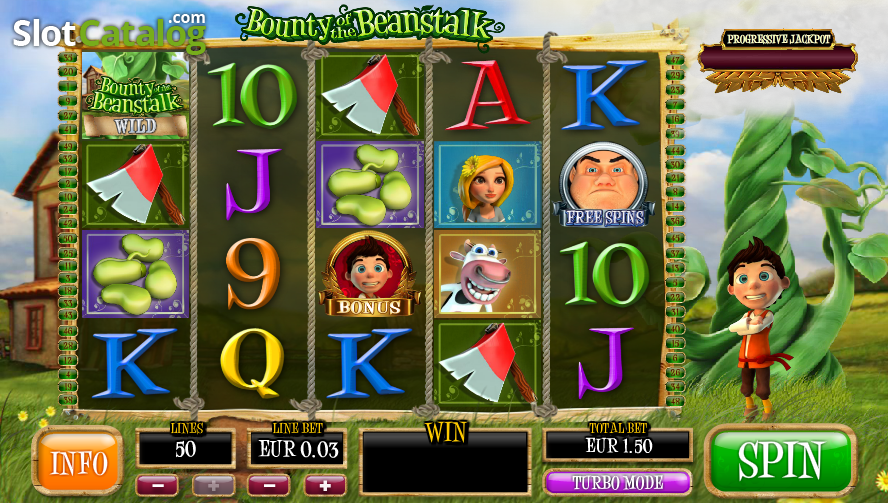 Bounty of the Beanstalk is a 3D video slot from Playtech.It was released on 2 August , and it delivers a 5×4 layout and 50 paylines.This online slot will take us to the land of Jack and the Beanstalk, but you will not get out of it while empty-handed.