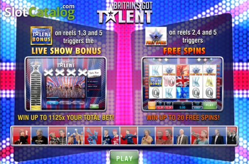 Screen2. Britain's Got Talent (Video Slot from Playtech)