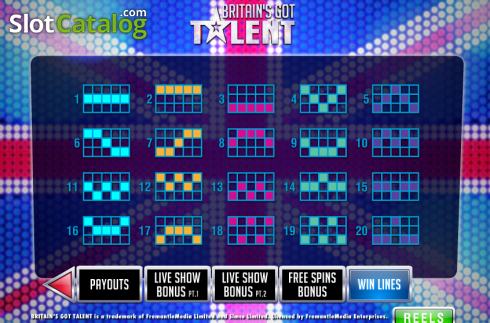 Screen7. Britain's Got Talent (Video Slot from Playtech)