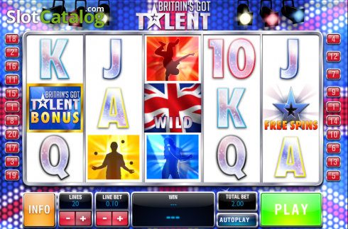 Screen8. Britain's Got Talent (Video Slot from Playtech)
