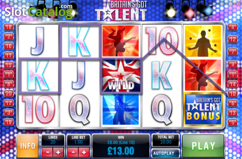 Screen9. Britain's Got Talent (Video Slot from Playtech)