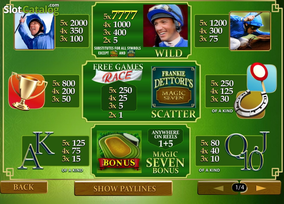 Spiele Frankie Dettori Magic Seven - Video Slots Online