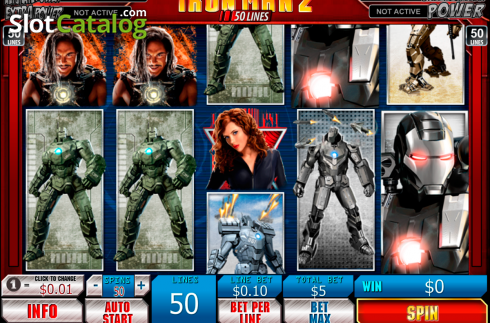 Mulinete. Iron Man 2 50 Lines (Slot video din Playtech)