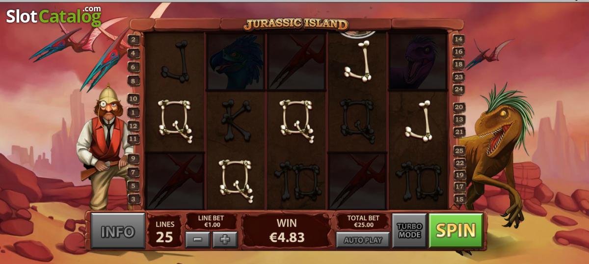 обзор игрового автомата jurassic island от playtech