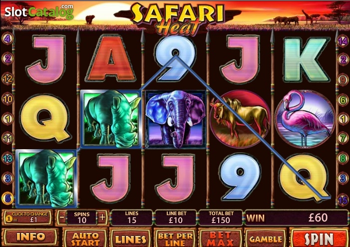 Safari Heat » FreeSlot Online » Click And Play