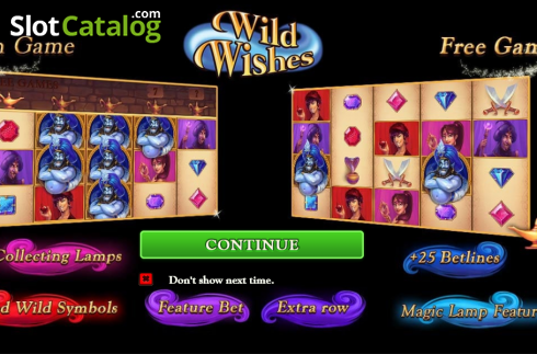 Screen2. Wild Wishes (Video Slot from Playtech)